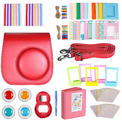 Neewer 10-in-1 Kit di Accessori per Fujifilm Instax Mini 8/8s (Rosso)