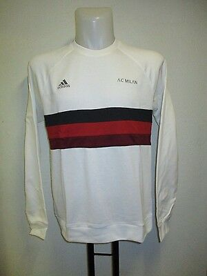 Ac Milan 2015/16 Sf Crew Sweat By Adidas Adults Size Large Brand New
