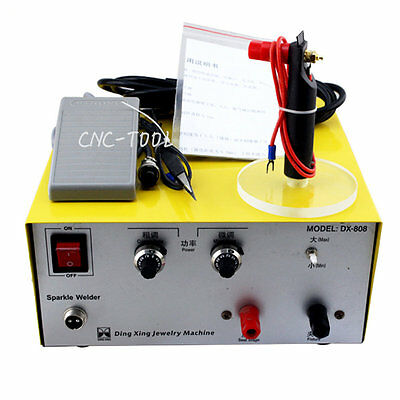 80A Pulse Sparkle Spot Welder Platinum Gold Silver Jewelry Welding Machine 110V