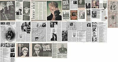 BILLY IDOL : CUTTINGS COLLECTION -adverts interviews-