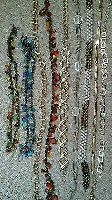 Ladies collection of belts, x9