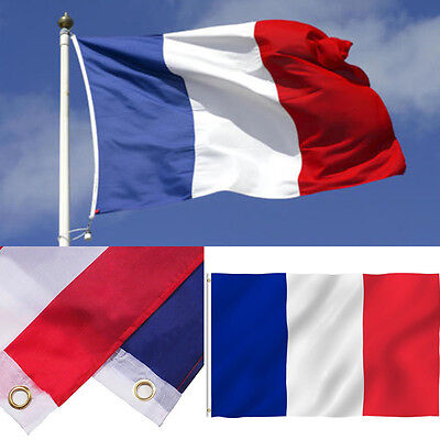France Flag-- French Super-Poly 3'x5' Polyester Banner Brass Grommets