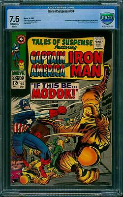 Tales of Suspense # 94  1st appearance of Modok !  CBCS 7.5 scarce book !