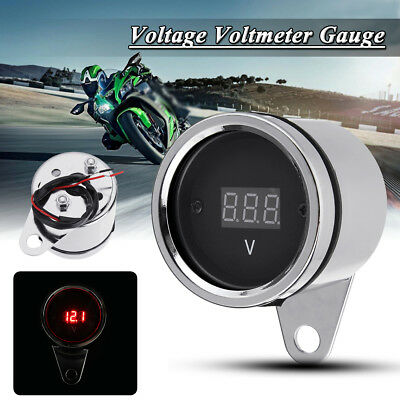 Universal Car Motorcycle Bike Led Digital Voltage Volt Meter Gauge Waterproof