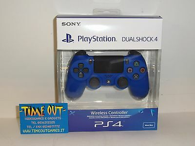 Playstation 4 Dualshock 4 V2 Wireless Controller Wave Blue Blu Ps4 Nuovo