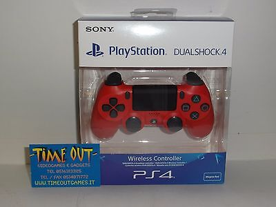 Playstation 4 Dualshock 4 V2 Wireless Controller Magma Red Rosso Ps4 Nuovo