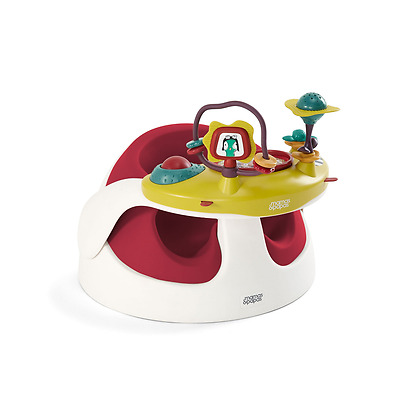 Mamas and Papas - Baby Snug Floor Seat - Soft Rust Red and Play Tray - BRAND NEW