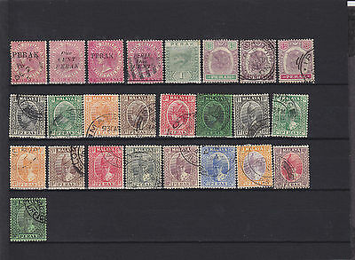 Malaya Perak QV - KGVI Mainly Used  MM Collection