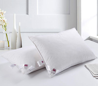 Luxury Hotel Quality Duck Feather Pair Pillow Extra Filling Comfortable