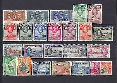 Gold Coast KGVI Mounted Mint Collection. 1st set no 5s
