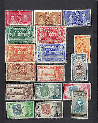 Barbados KGVI Mounted Mint Collection