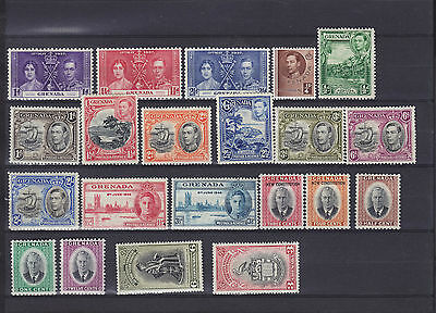 Grenada KGVI Mounted Mint Collection
