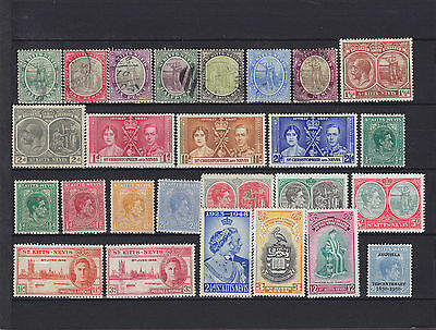 St Kitts-Nevis QV - KGVI Mounted Mint & Used Collection