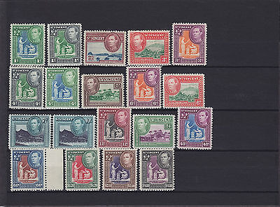 St Vincent KGVI 1949 SG 164/177 Mounted Mint Collection
