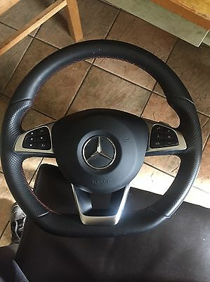 Mercedes Amg Flat Bottom Steering Wheel With Airbag C Class A Class Cla 2015