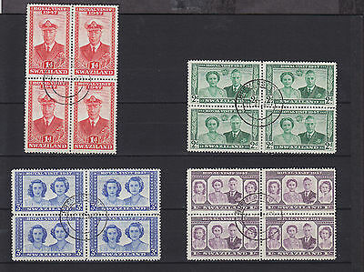 Swaziland KGVI 1947 SG 42/45 Blocks of 4 Used
