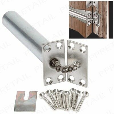 NICKEL Hidden Internal Door Closer 140mm FIRE RATED Chain Spring Inner Concealed