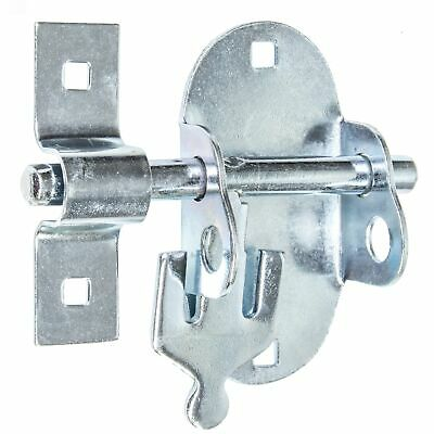QUALITY PLATED 100mm OVAL PADLOCK SLIDING BOLT Gate Shed Door Garden Stable Lock
