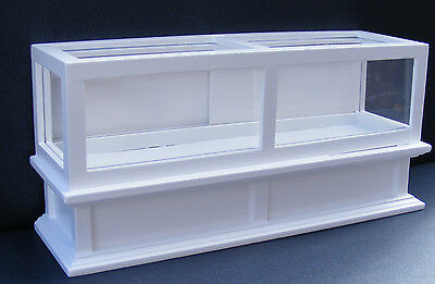 1:12 Scale White Painted Wooden Shop Display Counter Tumdee Dolls House 273wh
