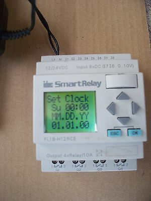 Idec Fl1B-H12Rce Smart Relay W/power Supply Tested Used 8X Inputs
