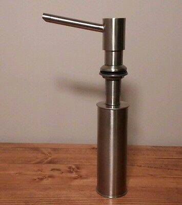 Heavy Stainless Steel Mounted Soap Dispenser Stainless Chamber & Finish QUALITY