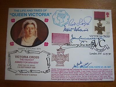 1990 Victoria Cross Cover Signed By Five Victoria Cross Medal Holders