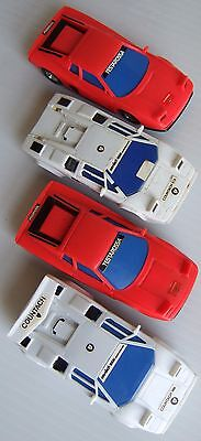 1/43 Slot Car Lot: Four (4) Working Racers