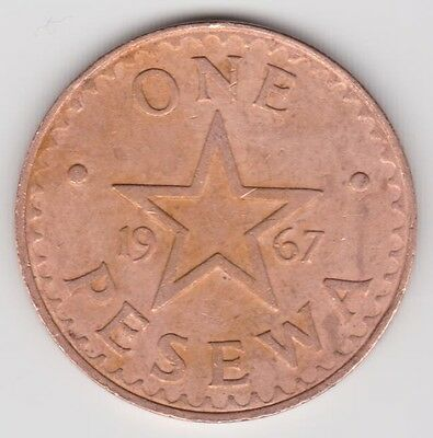1967 Ghana One Pesewa km13 Higher Grade Coin Look at Scans Grade Yourself
