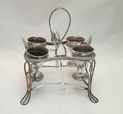 An 18th Century Old Sheffield Plate Egg Rack - 4 cups - c1790