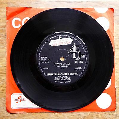 """RUPERT'S PEOPLE Reflections Of Charles Brown PROMO COLUMBIA UK 7"""" 45 PSYCH RARE"""