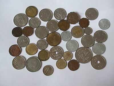 Job Lot of 39 foreign coins
