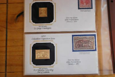 United States 22K Gold Foil First Day Covers 2