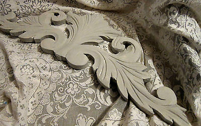 19th Century French Painted Pediment/Scrolls