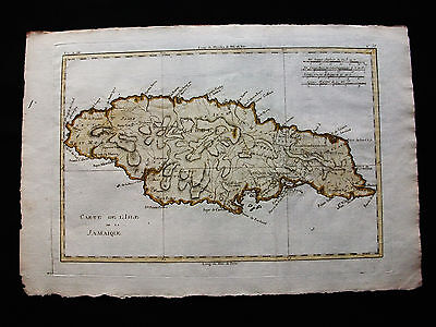 1778 BONNE - Orig map: CENTRAL AMERICA, CARIBBEAN JAMAICA KINGSTON DISCOVERY Bay