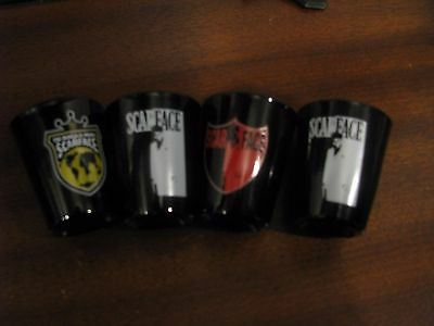 Brand New Scarface Al Pacino Shot Glass Glasses Lot Set of 4
