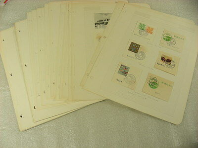 RYUKYU ISLA, Excellent Used Stamp Collection hinged on pages, many nice cancels!