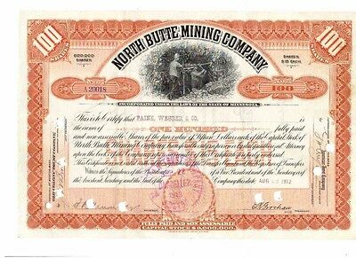 Lot: 5 North Butte Mining Company 1912