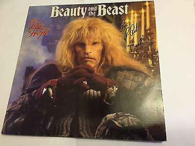Signed by Ron Perlman! BEAUTY AND THE BEAST (Holdridge) Score OST Soundtrack LP