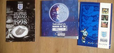 The Official England Squad Medal Collection 1998 (1998 Football World Cup coins)