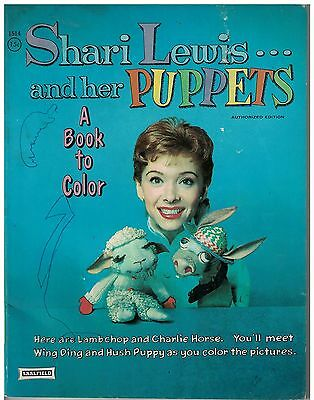 1958 Shari Lewis and her Puppets Coloring Book Lambchop, Charlie Horse