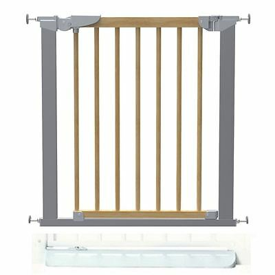 Safetots Beechwood and Metal Pressure Safety Stair Gate with No Trip Plate