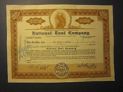 Old Vintage 1955 - NATIONAL TOOL COMPANY - Stock Certificate - Cleveland OHIO