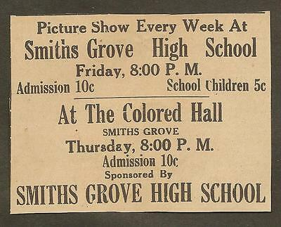 Vintage Ad Clipped From Newspaper - Smiths Grove Picture Show -1939