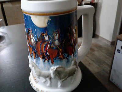 Budweiser 2005  Holiday Stein Cs389  Free Shipping!!!!!!!!!!!!!