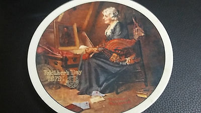 Reflections Norman Rockwell Collectible Plate Knowles Mothers Day 1979
