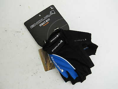 Brand New Endura Xtract Mitts Men's Summer Gloves, Black/Blue, Size Large