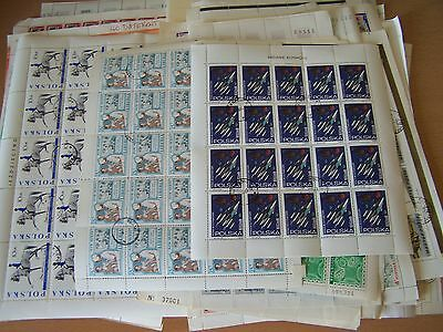 100 Different Complete Sheets Of World Stamps,excellent Lot.