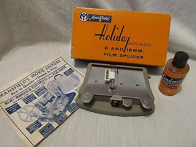 Vintage Mansfield Holiday Automatic 8 and 16 MM Film Splicer