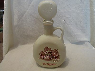 Vintage Old Fitzgerald Bourbon Whiskey Monticello Decanter