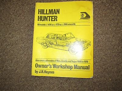 Hillman Hunter 1966 onwards by J.H. Haynes